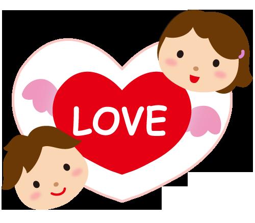 バレンタインハートのイラスト