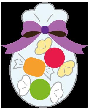 ハロウィンのお菓子キャンディーのイラスト