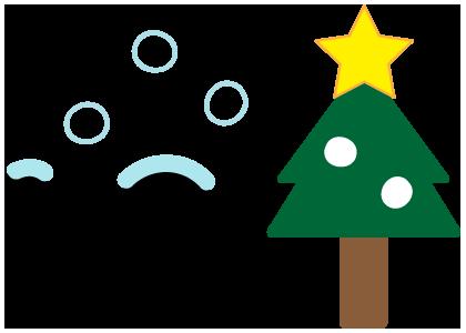 12月とクリスマスツリー