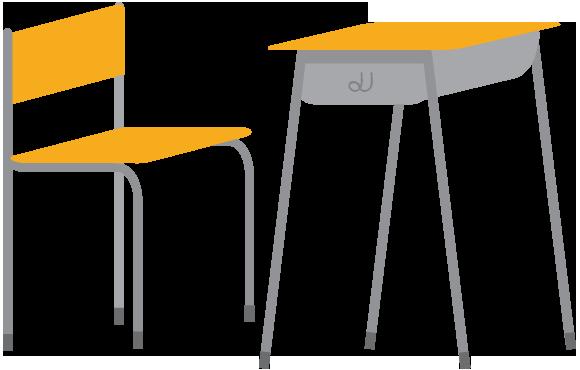 机のイラスト