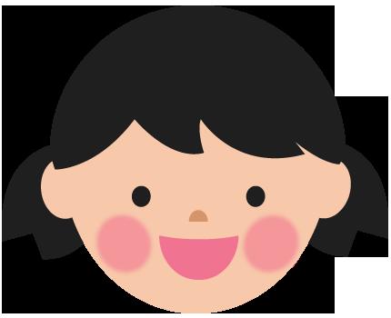 笑顔の女の子その1のイラスト