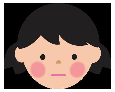 無表情の女の子のイラスト