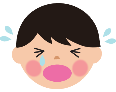 号泣する男の子のイラスト
