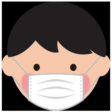 マスクをした男の子のイラスト