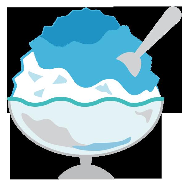 かき氷ブルーハワイ