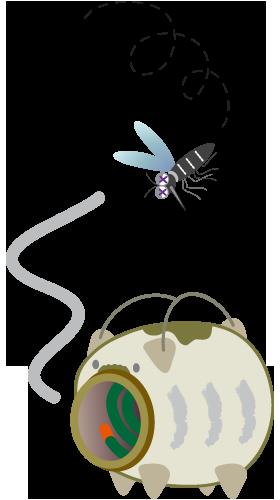 蚊取り線香豚と蚊