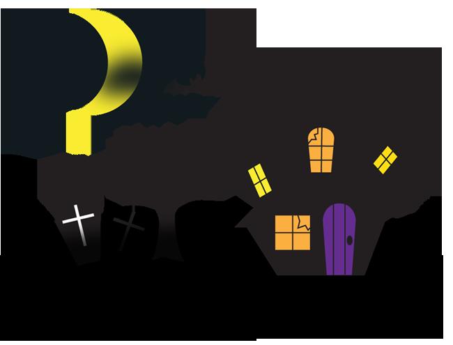 月夜のホーンテッドマンション