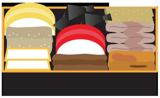 重箱料理のイラスト