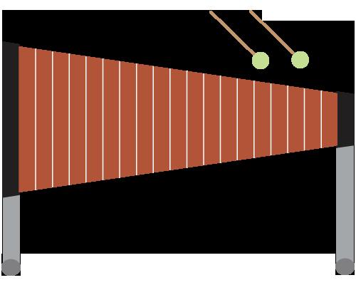 木琴のイラスト