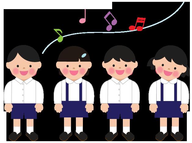 音楽発表会合唱のイラスト