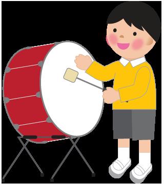 大太鼓の演奏のイラスト