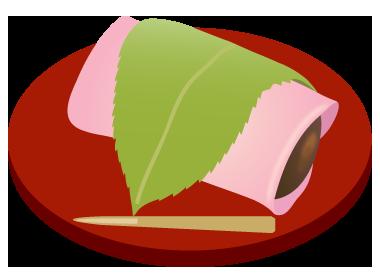 桜餅長命寺皿