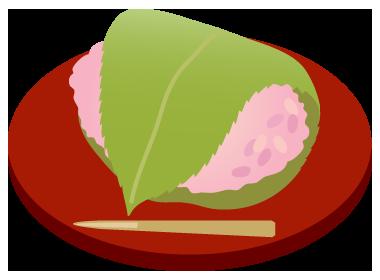 桜餅道明寺皿
