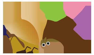 鈴虫と音符
