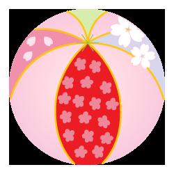 手毬桜模様