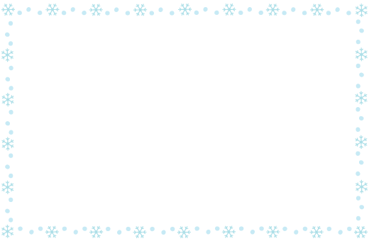 囲み枠冬雪の結晶