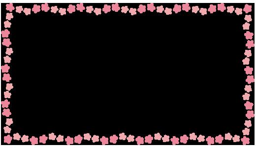 囲み枠桃の花