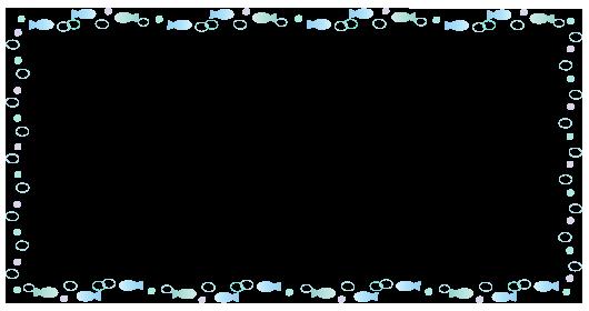 囲み枠魚と水玉
